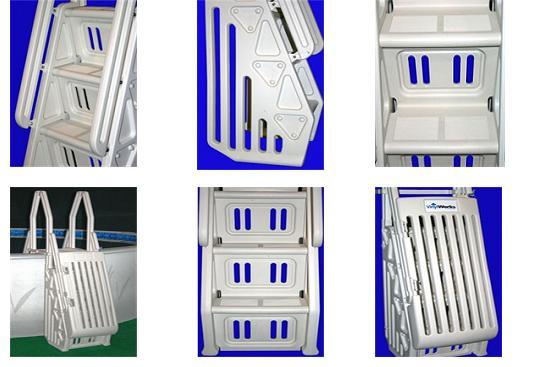 VinylWorks Neptune A Frame Above Ground Swimming Pool Ladder Entry ...